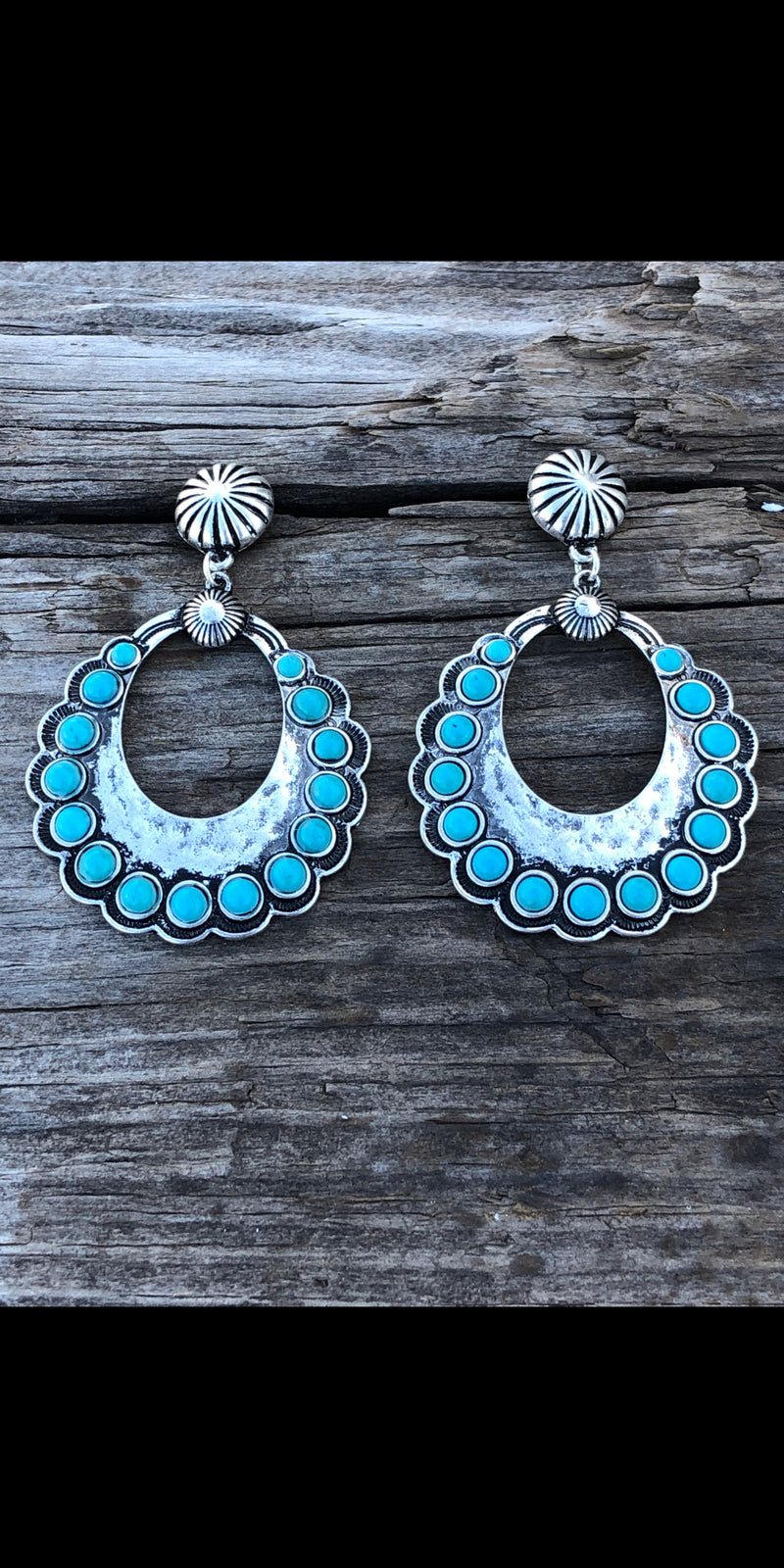 Raton Turquoise Teardrop Earrings