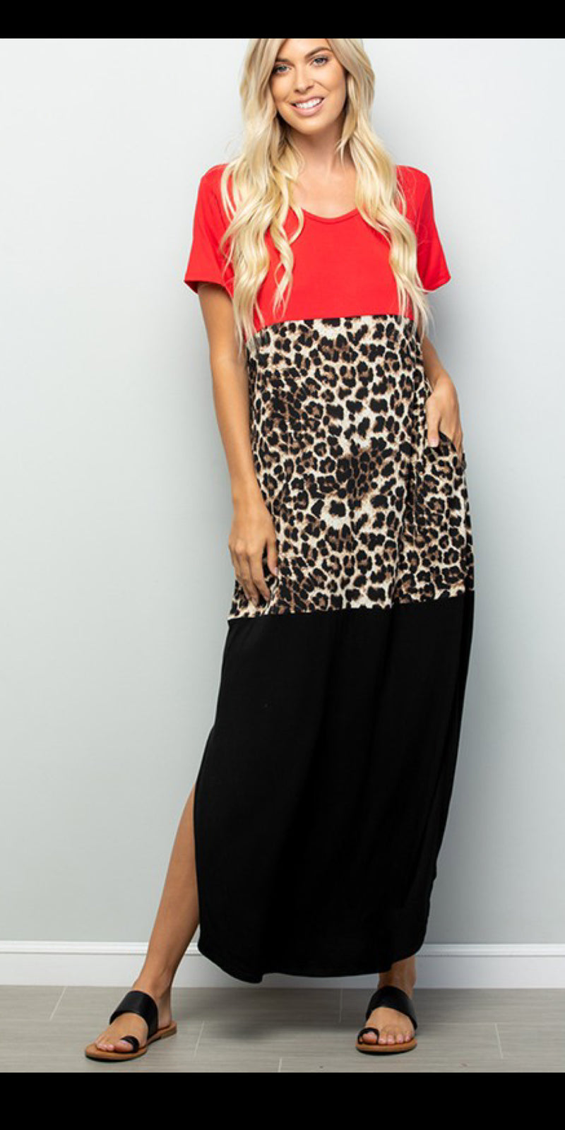 Red Rio Leopard Maxi Dress - Also in Plus Size