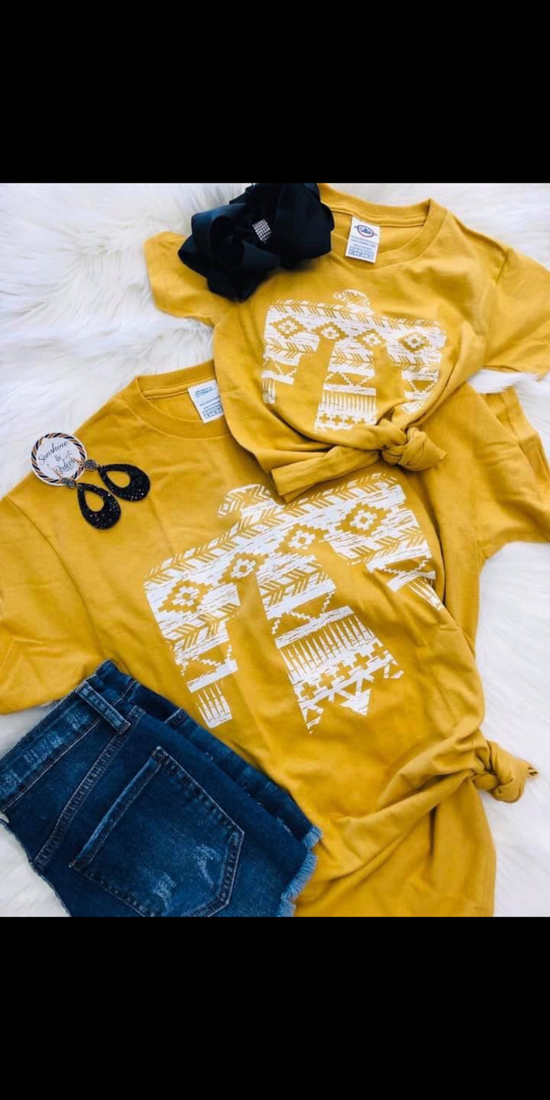 Kids Mustard Thunderbird Top