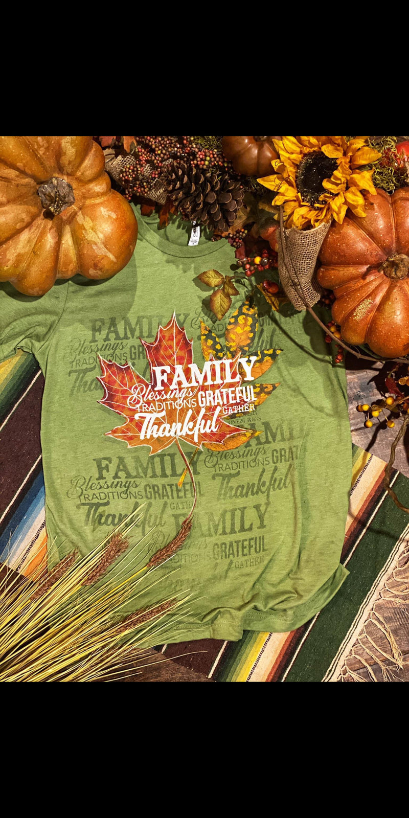 Family Traditions Leaf Top - Also in Plus Size