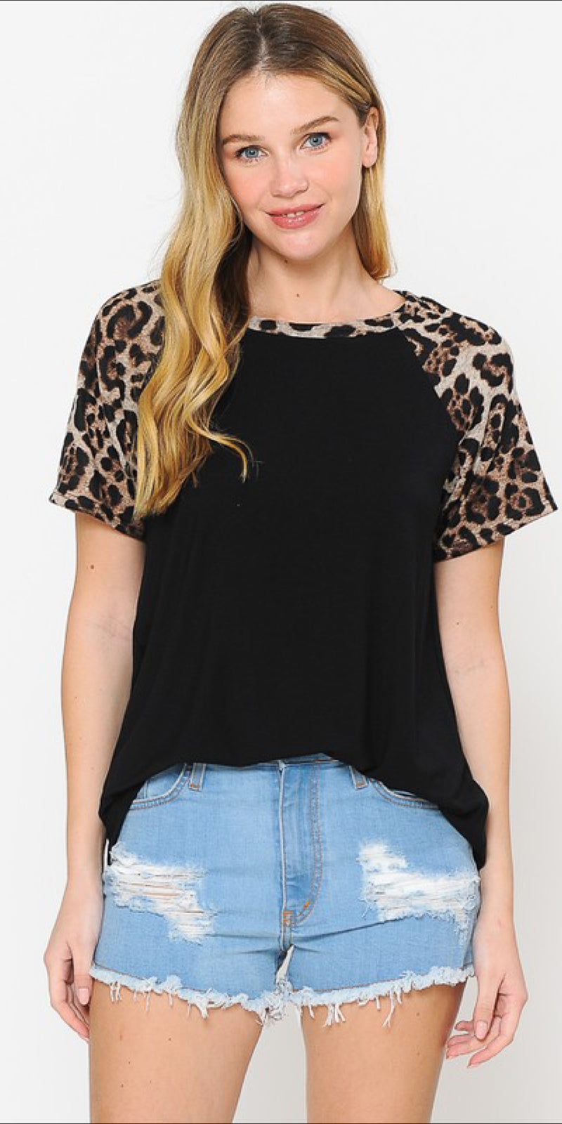 Lagoon Leopard Stripe Top - Also in Plus Size