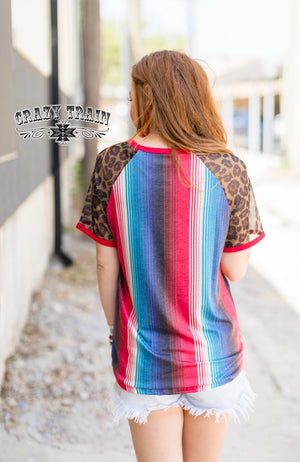 Too Fly Freedom Serape Leopard Top - Also in Plus Size