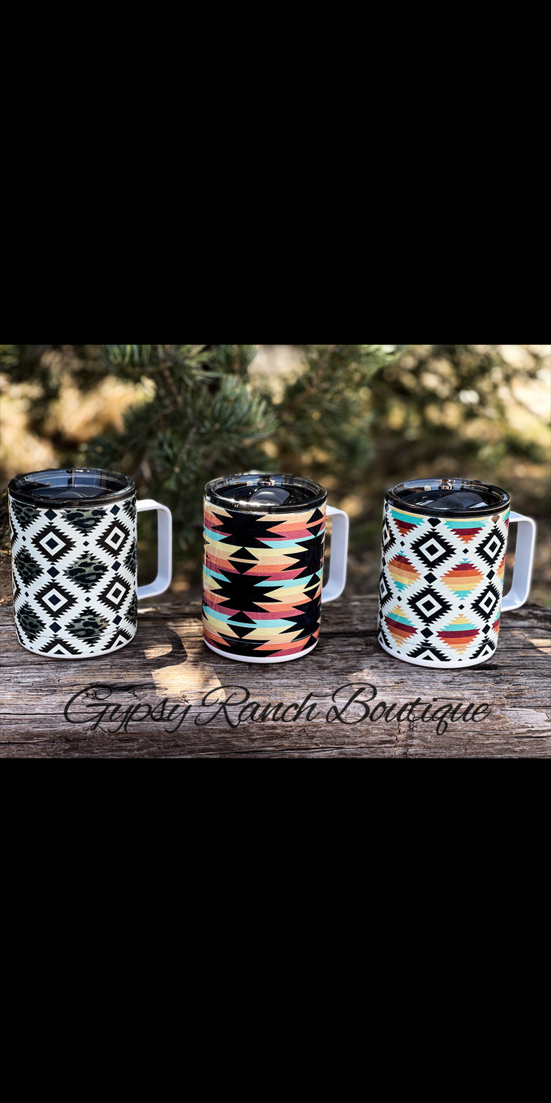 Aztec Stainless Mug Cups