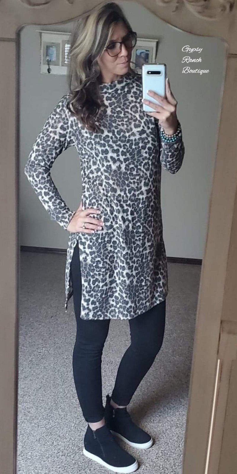 Tamara Leopard Tunic Top