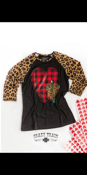 Cross My Heart Leopard Raglan - Also in Plus Size