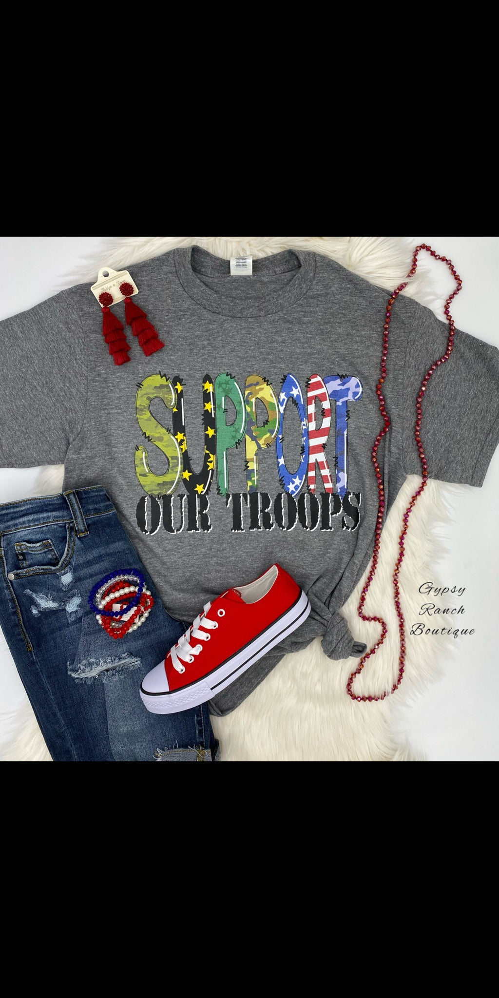 Support Our Troops Top - Also in Plus Size