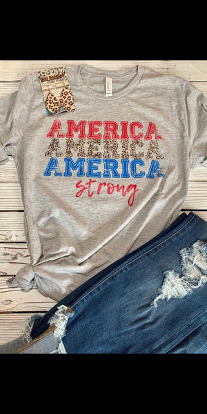 America America America Strong Top - Also in Plus Size
