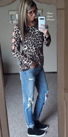 Starting Line Up Leopard Top - Also in Plus Size
