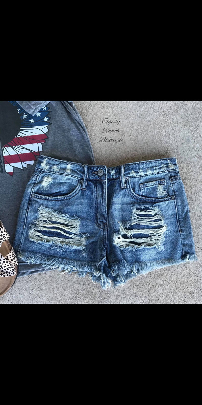My Favorite Distressed Denim Shorts