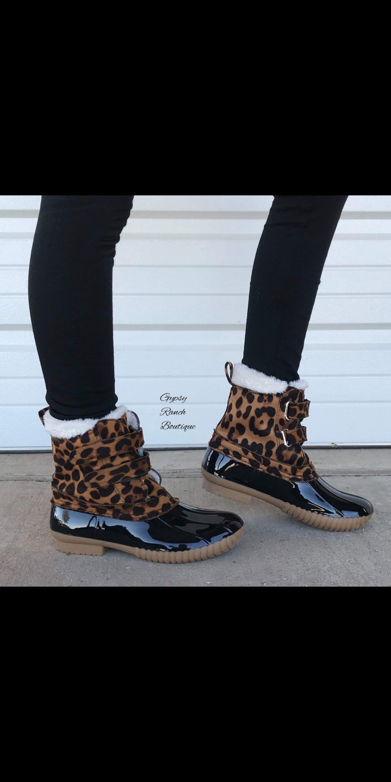 Kids - Regal Leopard Rain Snow Boots