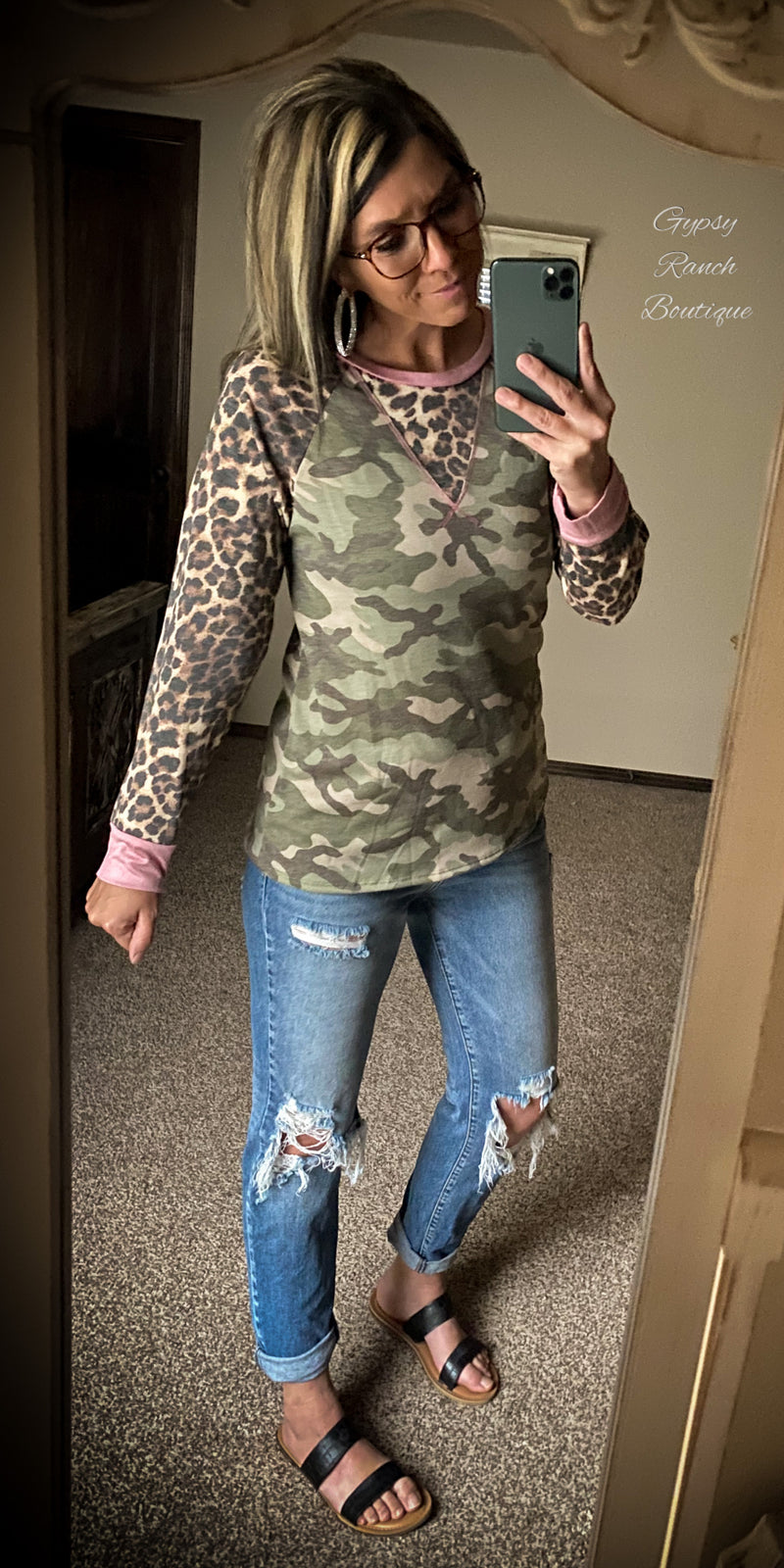 McCoy Camo & Leopard Top - Also in Plus Size