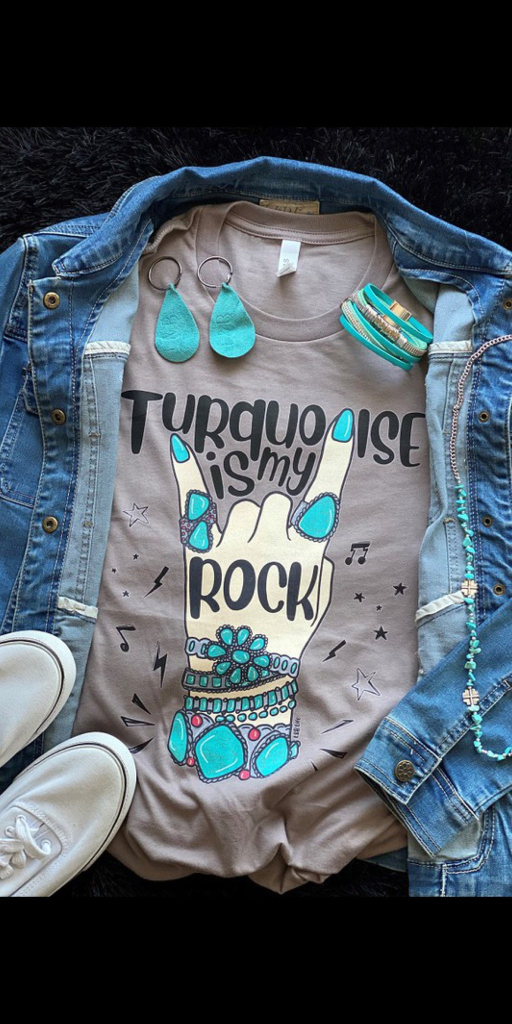 Turquoise is My Rock Top - Also in Plus Size