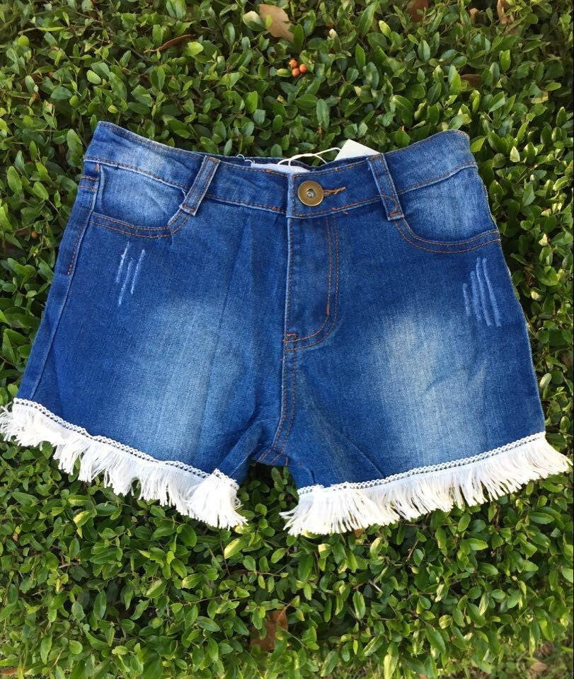 Kids - She's Got The Fringe Denim Shorts
