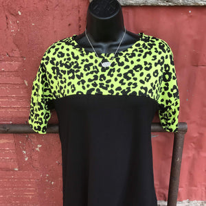 Vista Neon Lime Leopard Top - Also in Plus Size