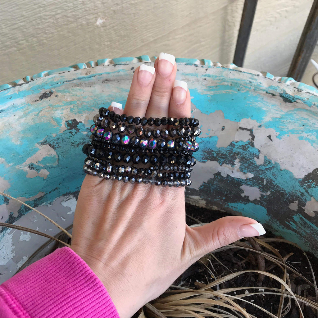High Stack Black Bracelet Set