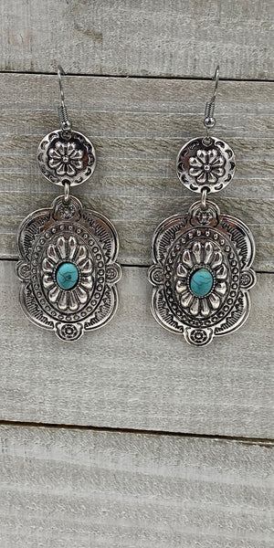 Ellie Turquoise Silver Earrings
