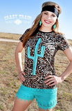Cactus Queen Leopard Top - Also in Plus Size