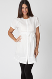 Ivory Pintuck Cotton Shirt