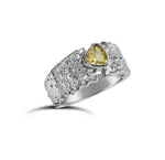 Unique Petite Ring with Lemon Yellow Gemstone