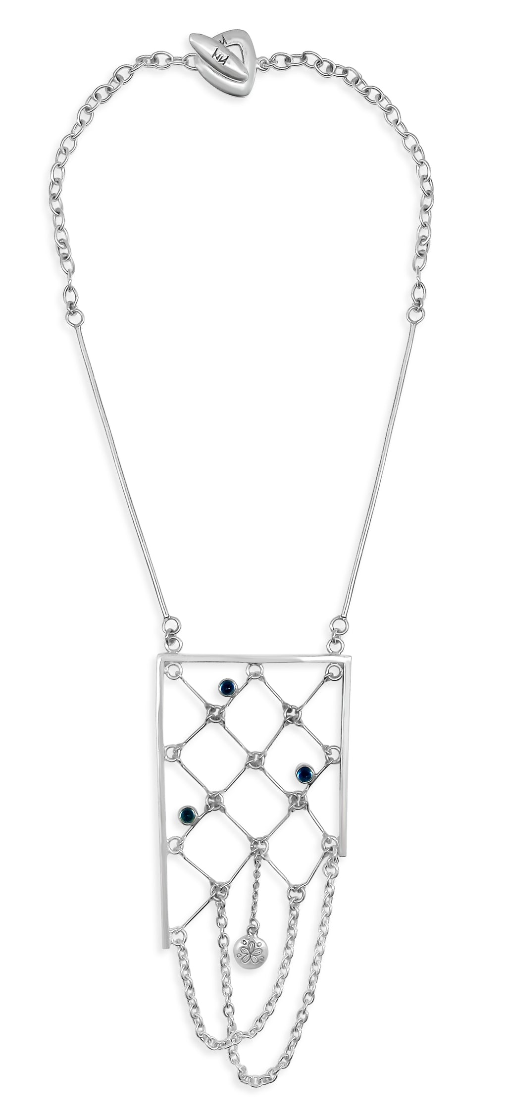 London Blue Topaz Net Necklace