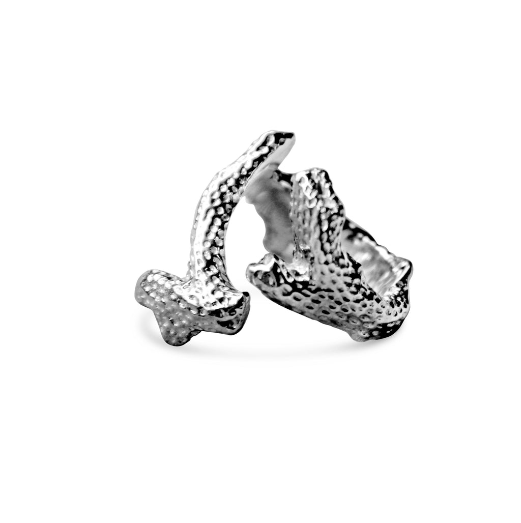 Coral Branch Sterling Silver 925 Ring