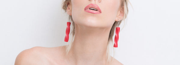 Ghita Earrings Set(Red) - Mino Creations Jewellery