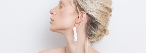 Ghita Earrings Set(White) - Mino Creations Jewellery
