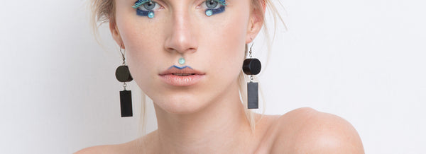 Elda Earrings Set(Black) - Mino Creations Jewellery