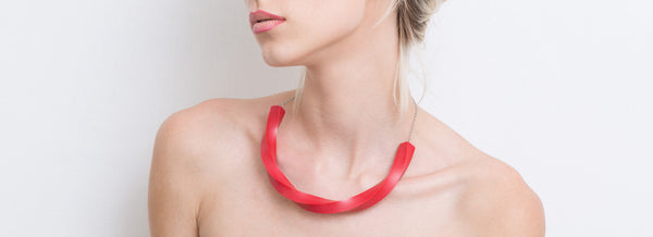 Aria Necklace (Red) - Mino Creations Jewellery