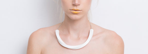 Aria Necklace (White) - Mino Creations Jewellery