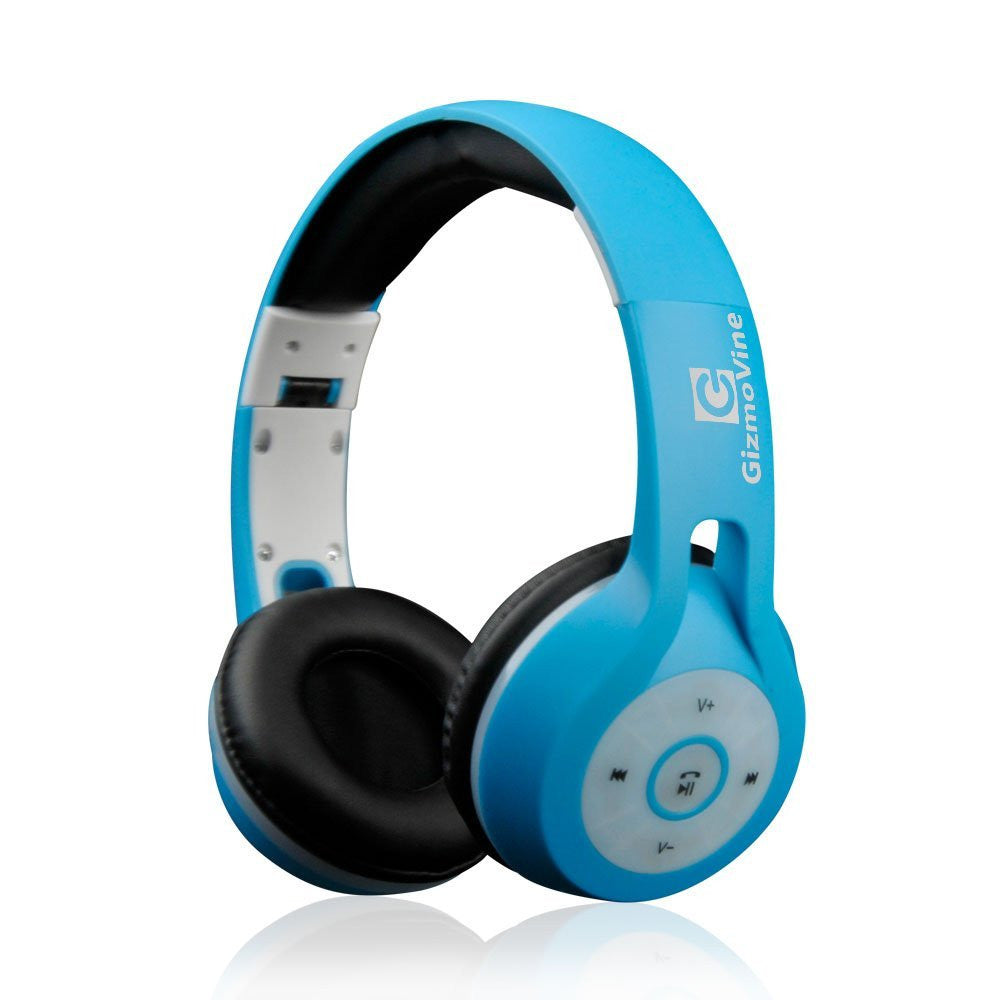 GizmoVine Bluetooth LED Over-ear Wired Stereo Audio Headphone ...