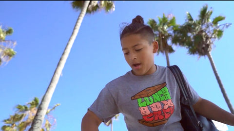 "12 year old rapper wears ""Sandwich"" logo shirt in video"