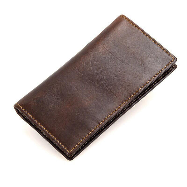TP Men Coffee Cowhide Leather RFID Blocking Slim Wallet + Promotion Free Aluma Wallet (Limited unit only)