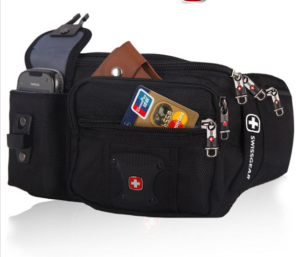 SwissGear Men Outdoor Casual Waist Bag-Black [SG-MWB]