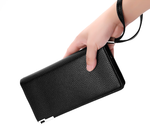 Mens Long Style Pu Leather Wallet Card Case Cash Receipt Holder Organizer