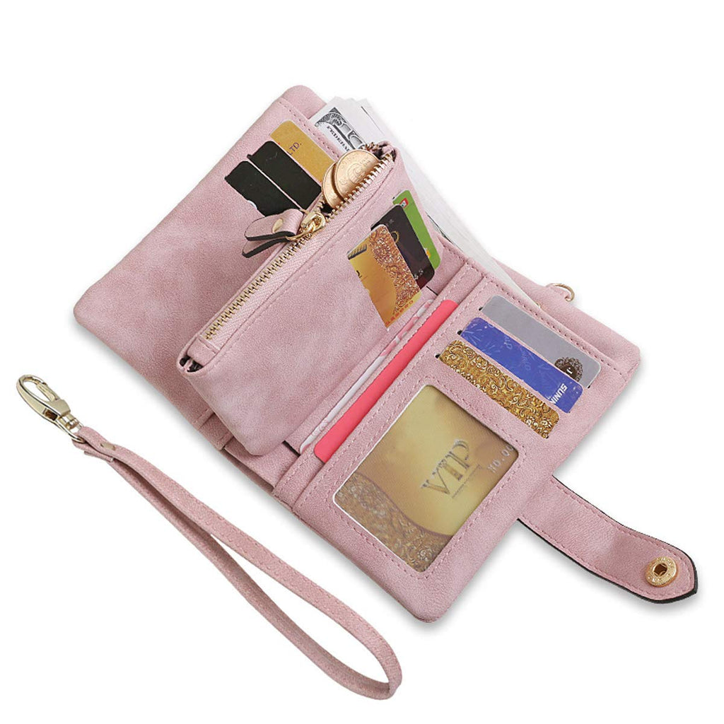 Ladies Wallet Women Leather Wristlet Clutch Card Coin Purse Bifold