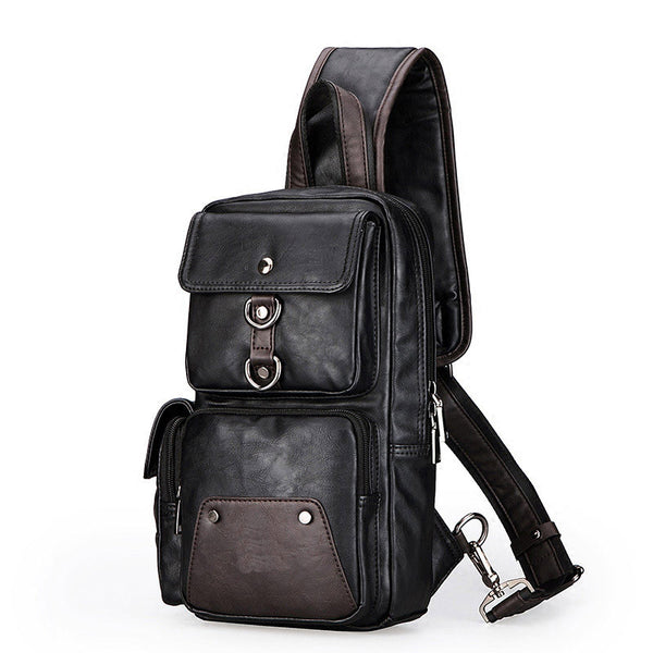 Men's Unbalance Chest Pack Multipurpose Backpack Crossbody Shoulder Bag­
