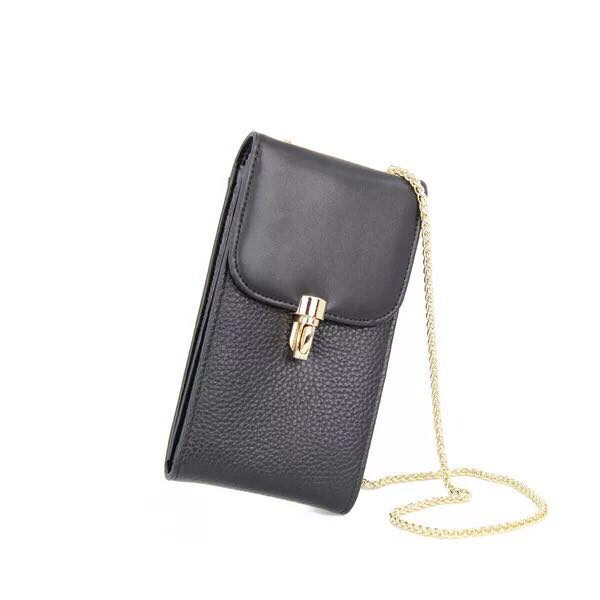 Genuine Leather Women Crossbody Cell Phone Bag