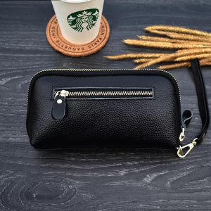 Elegant Daily Casual Clutch Genuine Leather Bag Purse For Women