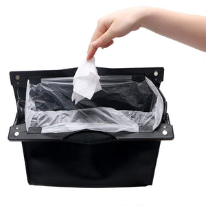 PU Leather Rubbish Bag Hanging Seat Back Storage