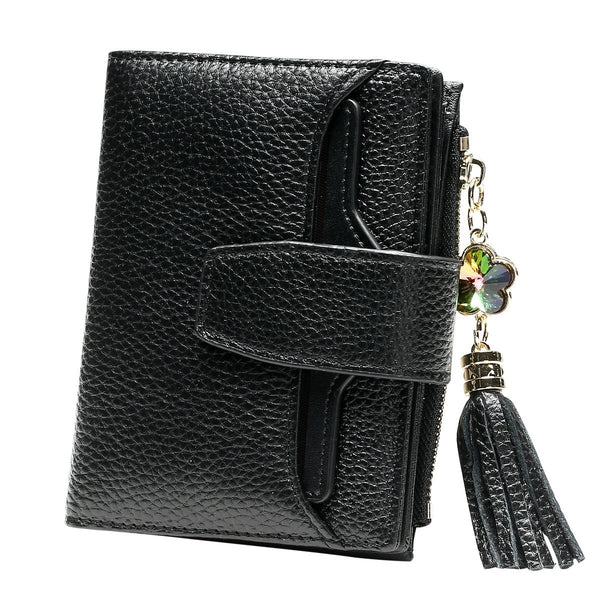 Women's Genuine Leather Multi Function Compact Wallet Coin Purse Card Holder