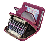 STYLIVVO Women's RFID Credit Card Holder Organizer Case Leather Security Wallet