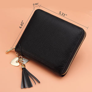 Genuine Leather Women's Credit Card Case Wallet 2 ID Window 40 credit cards