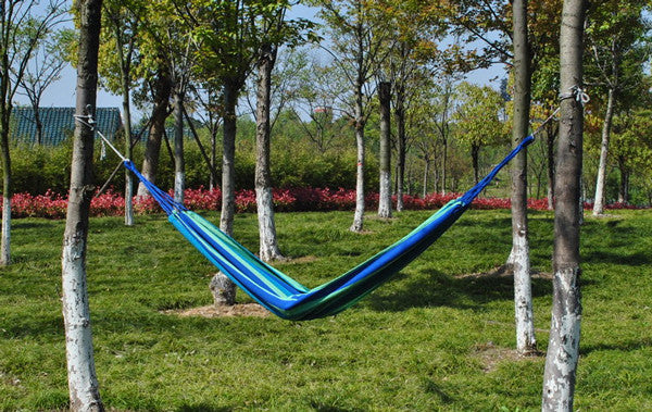 Outdoor Camping Family Travel Canvas Striped Hang Bed