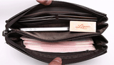 Genuine Leather Hand Bag Clutch Bag Smartphone / Cash / Cards + Free Aluma Wallet