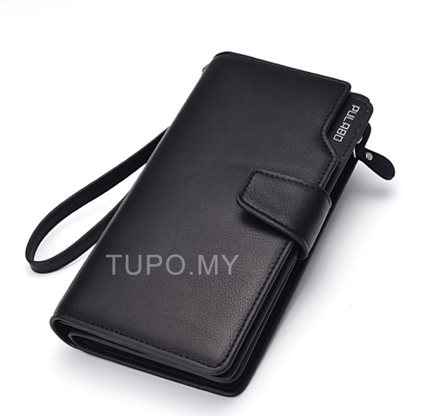 Leather Card Wallet with Smartphone Holder