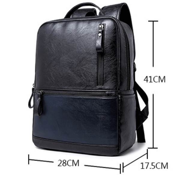 PU Leather School College backpack School bag Casual Daypack [PUBP045]