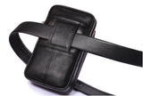 Men Leather Hip Belt Pouch Purse Fanny Pack Cell Phone Case Cover Waist Bag