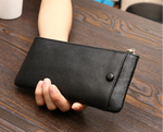 Stylivvo Genuine Leather Smartphone Wallet Unisex Clutch Cash Card Wallet