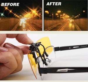 Polarized Clip-on & Flip-up Sunglasses Driving Travelling [Night Vision Available]